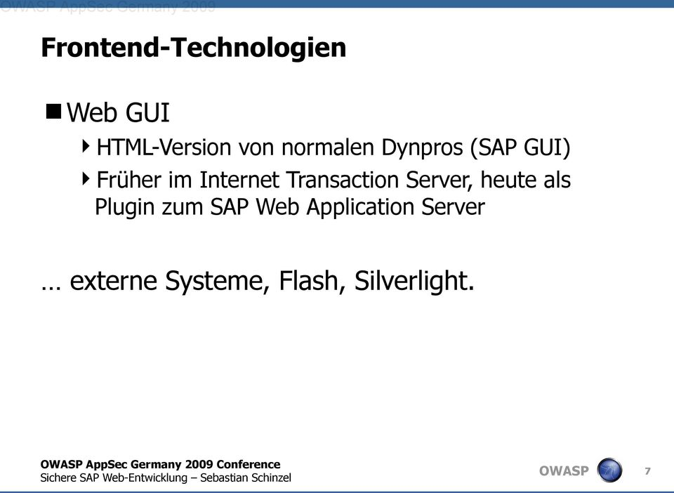Server, heute als Plugin zum SAP Web Application Server