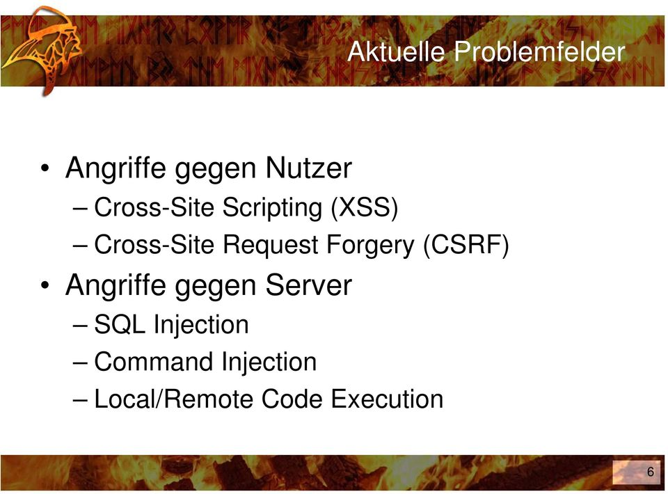 Forgery (CSRF) Angriffe gegen Server SQL
