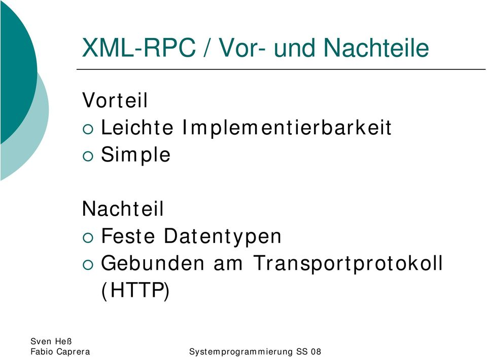 Implementierbarkeit Simple