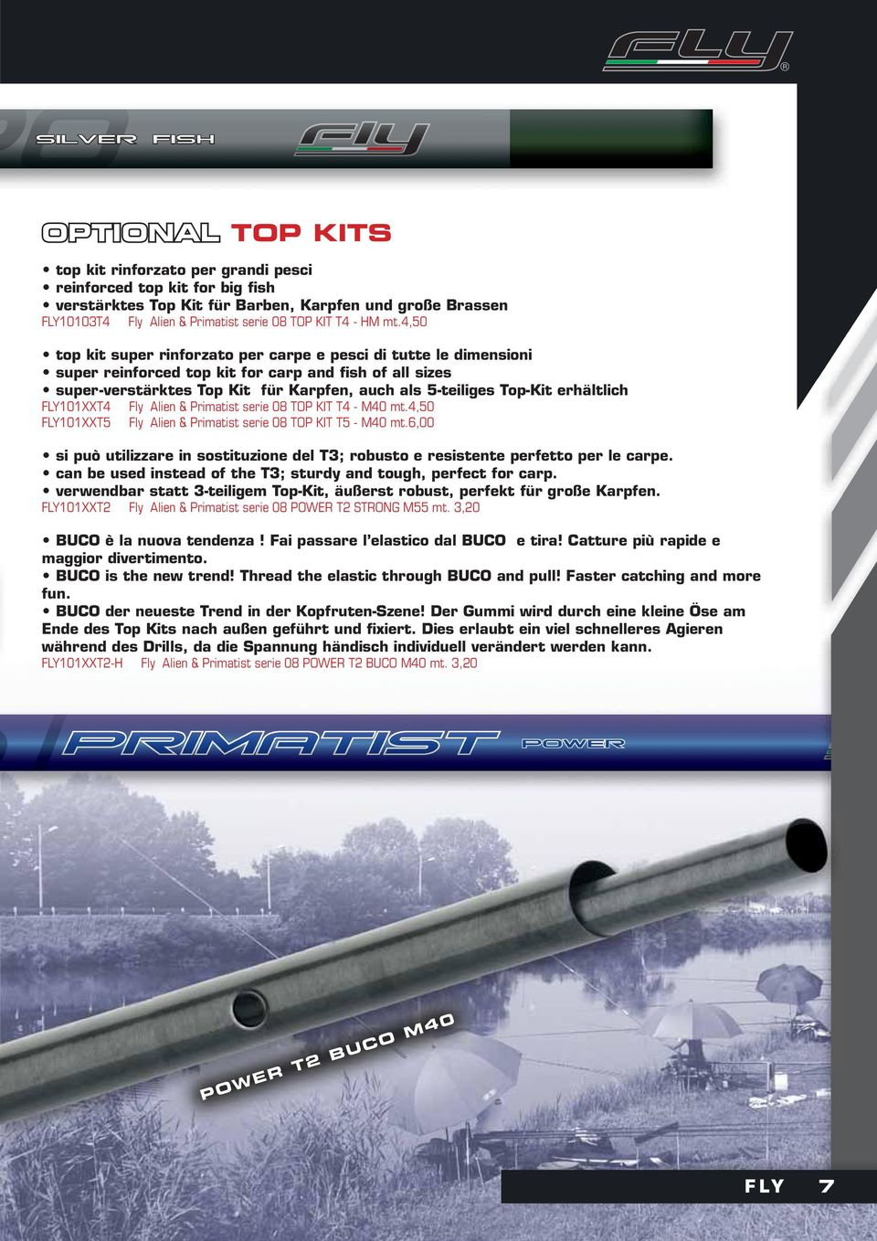 4,50 top kit super rinforzato per carpe e pesci di tutte le dimensioni super reinforced top kit for carp and fish of all sizes super-verstärktes Top Kit für Karpfen, auch als 5-teiliges Top-Kit