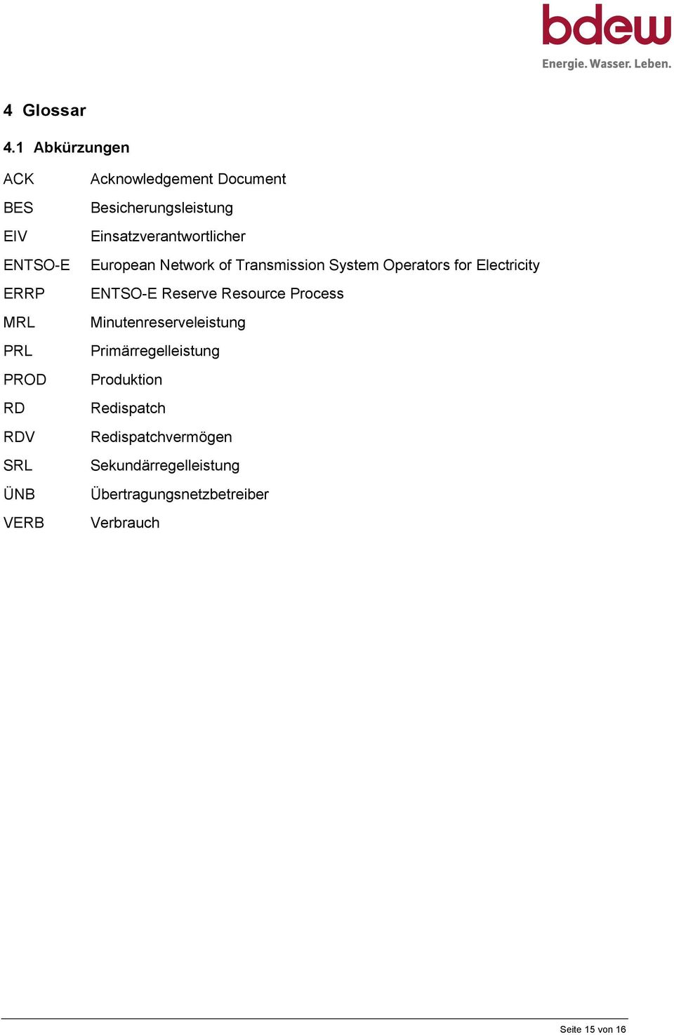 Besicherungsleistung Einsatzverantwortlicher European Network of Transmission System Operators for