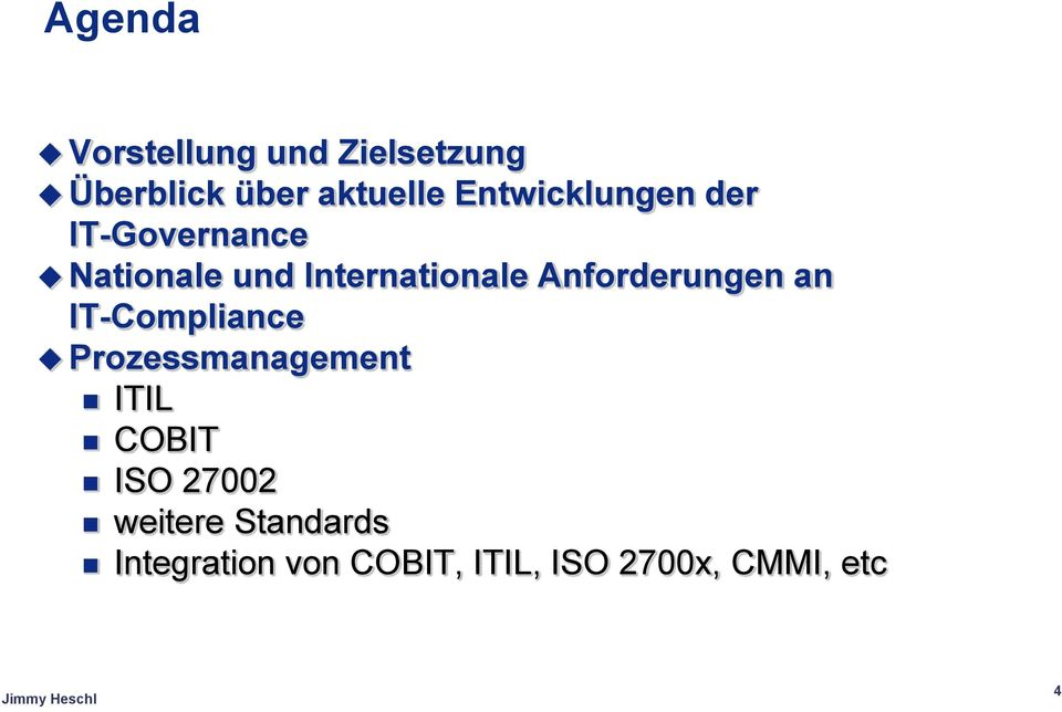 Anforderungen an IT-Compliance Prozessmanagement ITIL COBIT ISO