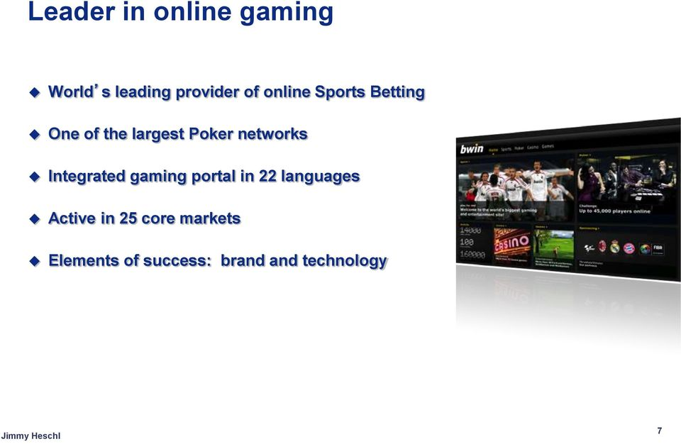 networks Integrated gaming portal in 22 languages