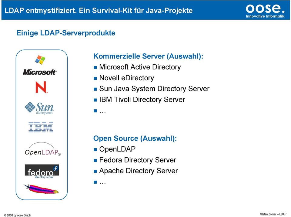Directory Server IBM Tivoli Directory Server Open Source