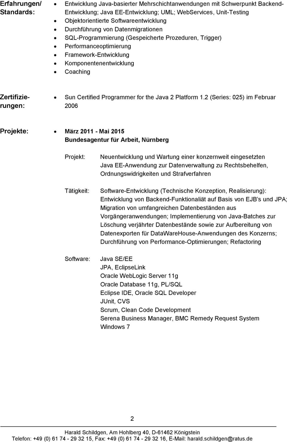 Zertifizierungen: Sun Certified Programmer for the Java 2 Platform 1.