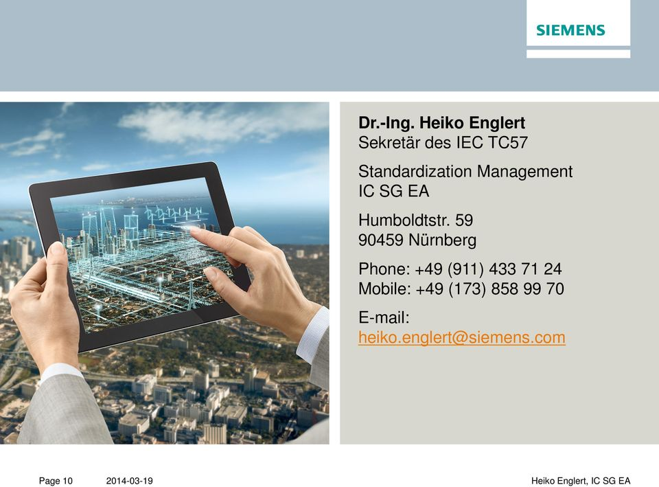 Management IC SG EA Humboldtstr.