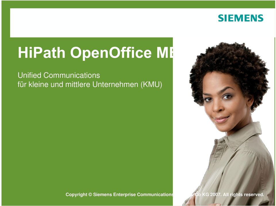 Enterprise Siemens Communications Enterprise