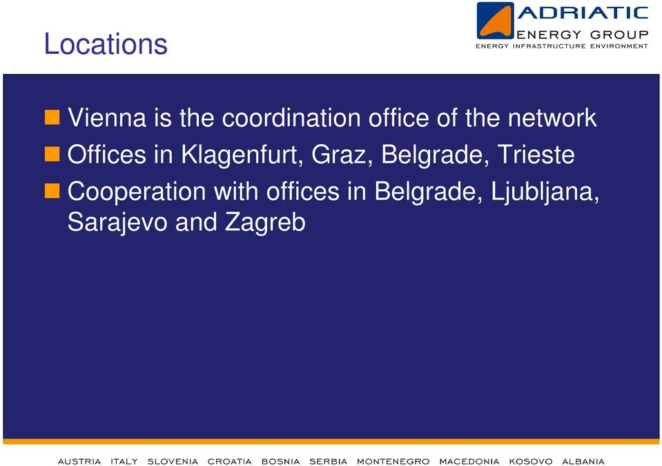 Belgrade, Trieste Cooperation with offices
