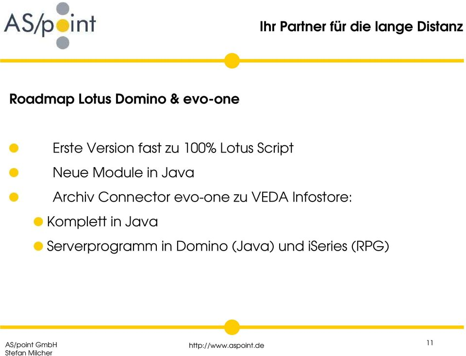 evo-one zu VEDA Infostore: Komplett in Java