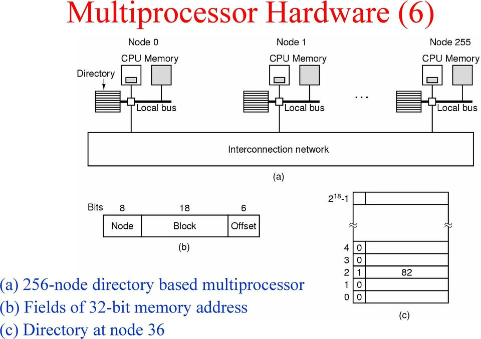 multiprocessor (b) Fields of