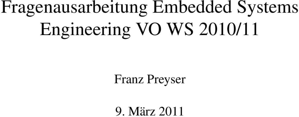 Engineering VO WS