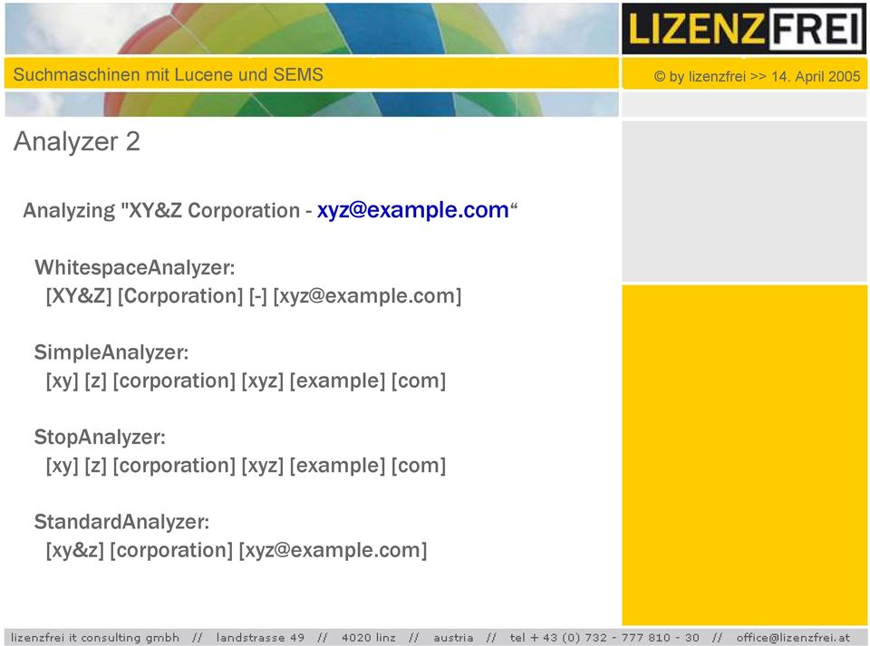 com] SimpleAnalyzer: [xy] [z] [corporation] [xyz] [example] [com]