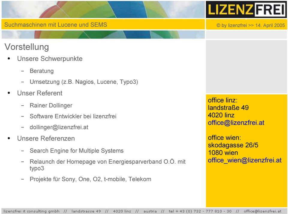 at Unsere Referenzen Search Engine for Multiple Systems Relaunch der Homepage von Energiesparverband O.Ö.