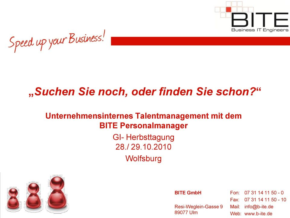 Personalmanager GI- Herbsttagung 28./ 29.10.
