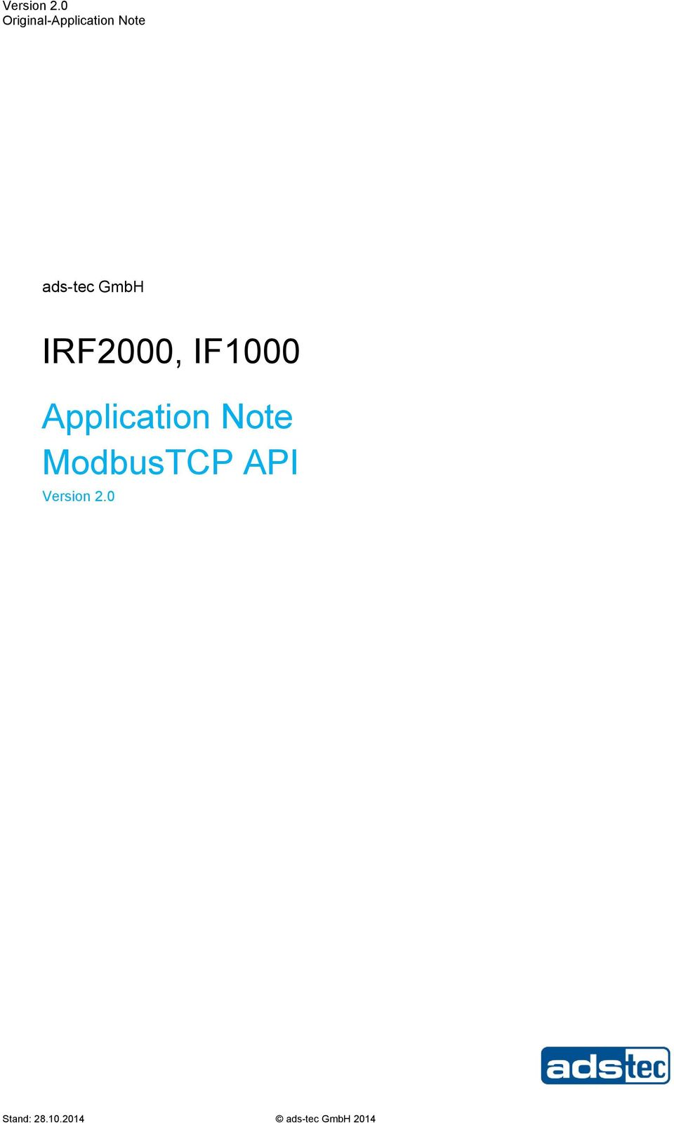 GmbH IRF2000, IF1000 Application