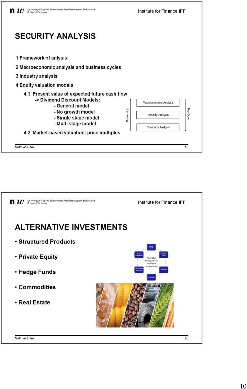 ALTERNATIVE INVESTMENTS Structured Products