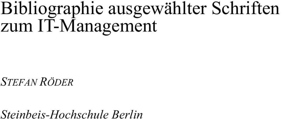 zum IT-Management