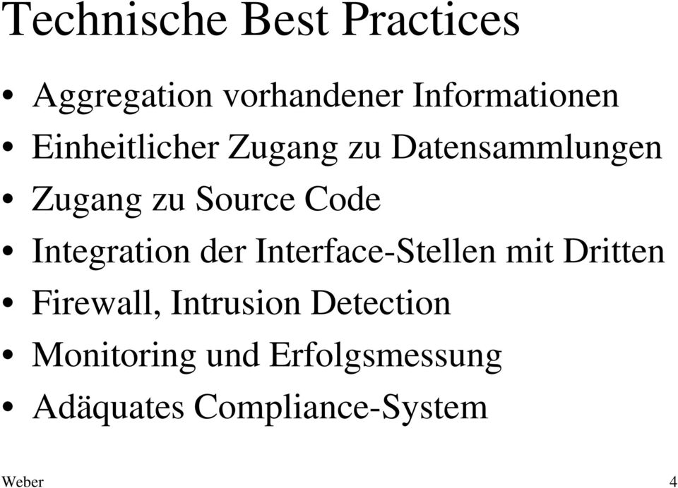 Integration der Interface-Stellen mit Dritten Firewall, Intrusion