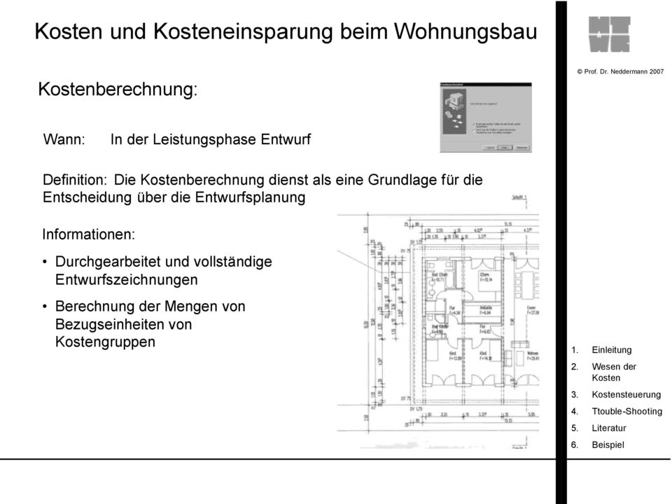 kostenplanung am beispiel wohnungsbau pdf. Black Bedroom Furniture Sets. Home Design Ideas