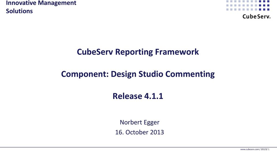 Studio Commenting Release 4.1.