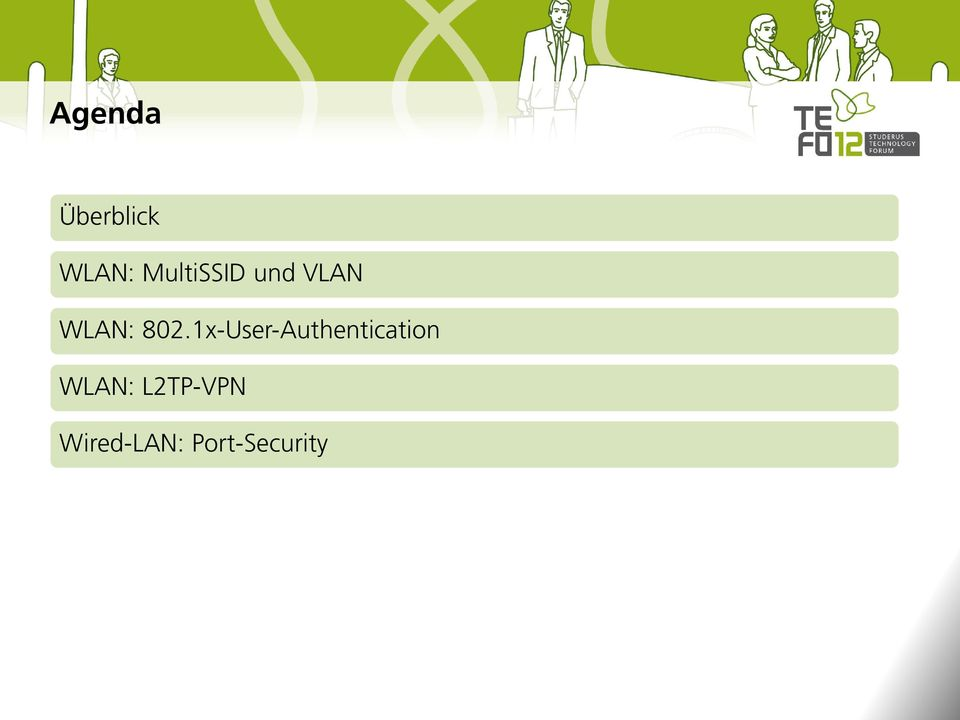 1x-User-Authentication WLAN: