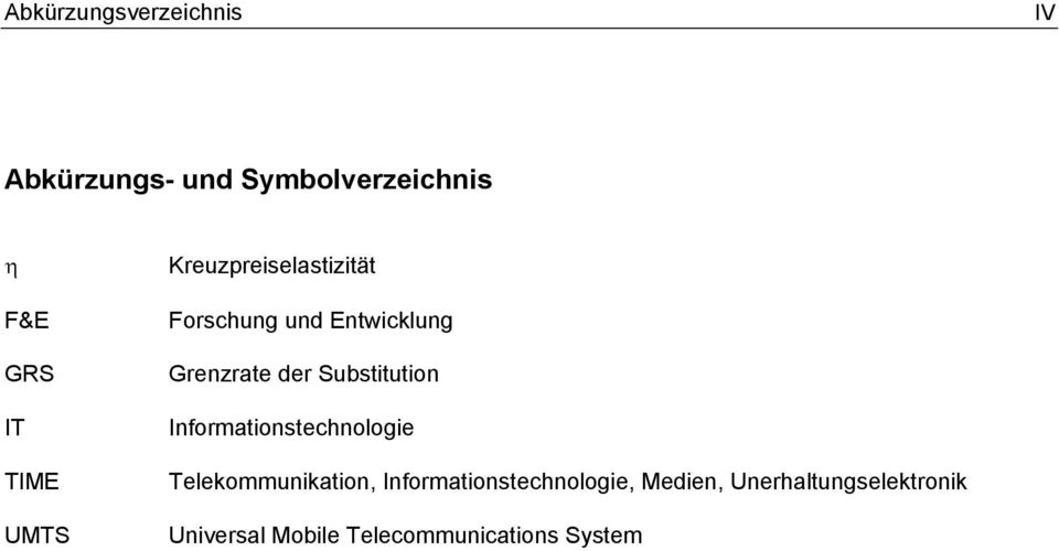 Substitution Informationstechnologie Telekommunikation,