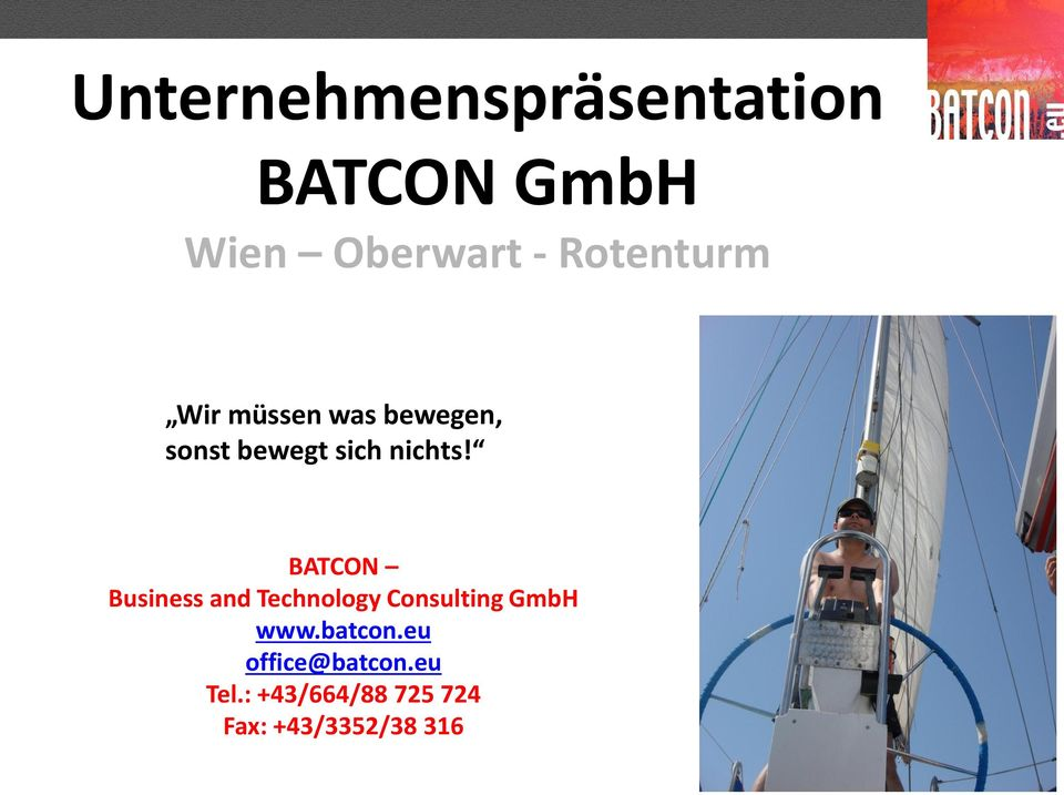 BATCON Business and Technology Consulting GmbH www.batcon.