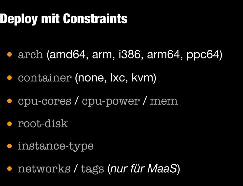 kvm) cpu-cores / cpu-power / mem root-disk