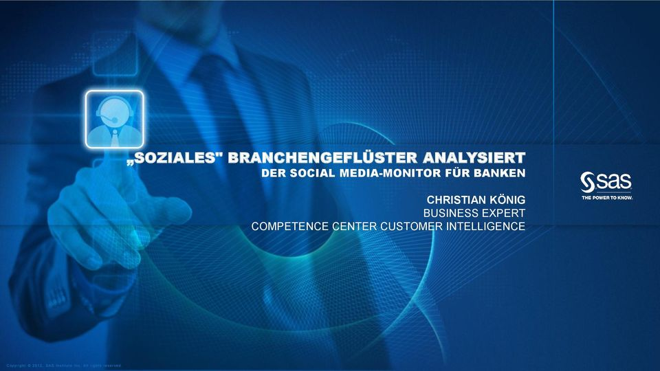 EXPERT COMPETENCE CENTER CUSTOMER INTELLIGENCE Copyr