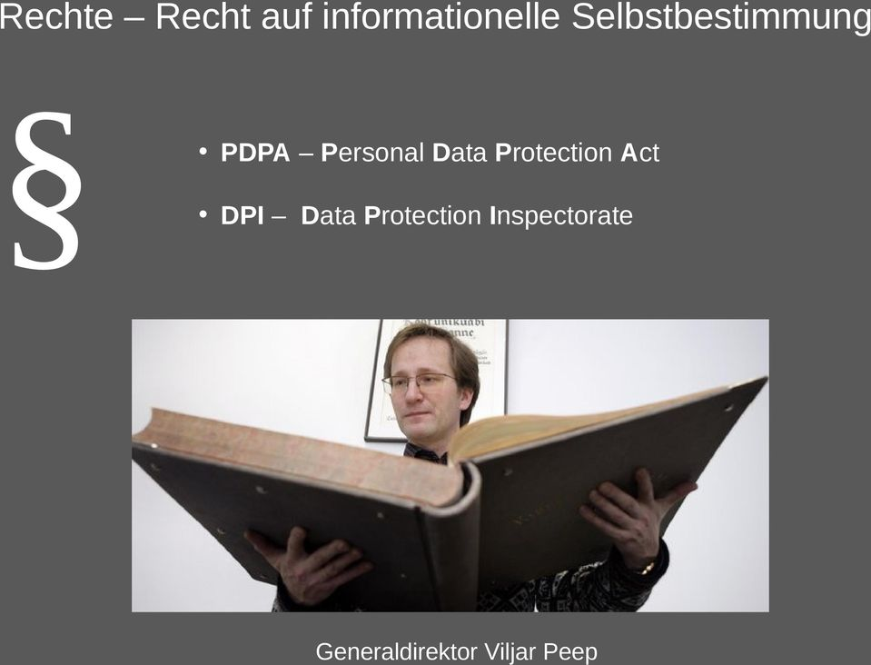 Protection Act DPI Data Protection