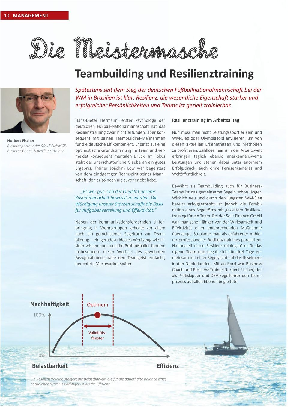Norbert Fischer Businesspartner der SOLIT FINANCE, Business Coach & Resilienz-Trainer Hans-Dieter Hermann, erster Psychologe der deutschen Fußball-Nationalmannschaft hat das Resilienztraining zwar