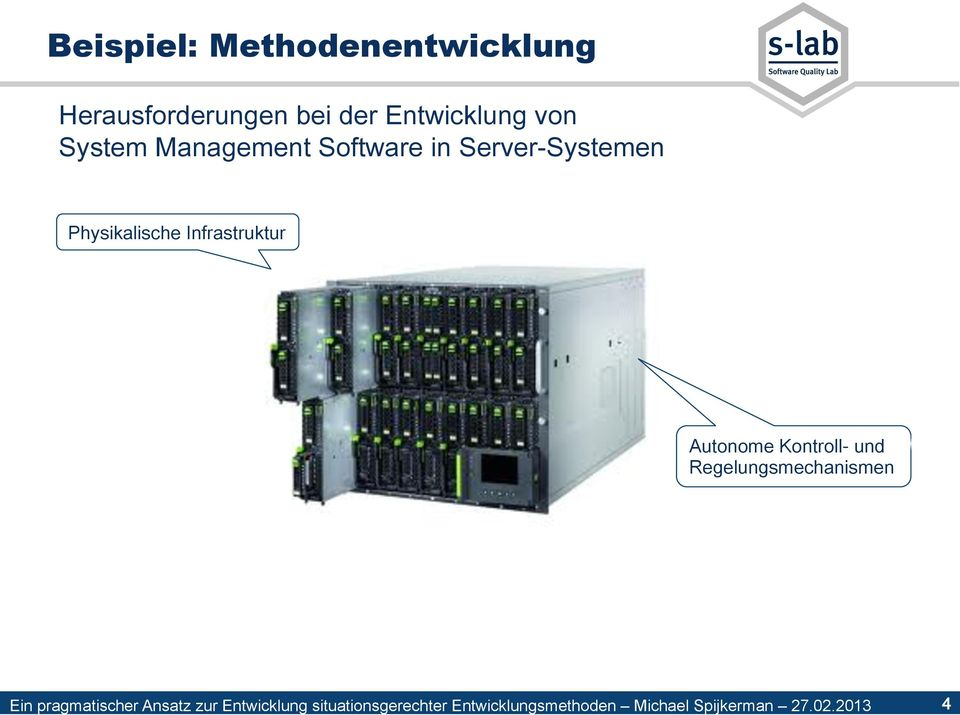 Software in Server-Systemen Physikalische
