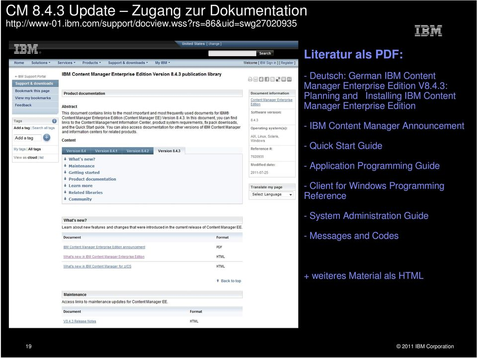 3: Planning and Installing IBM Content Manager Enterprise Edition - IBM Content Manager Announcement - Quick Start