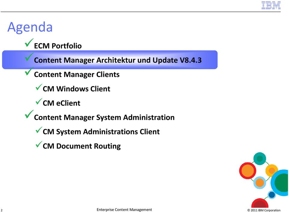 Content Manager System Administration CM System