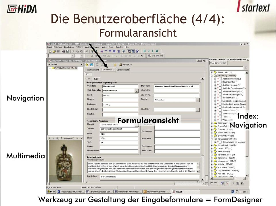 Navigation Multimedia Dokumentfenster:
