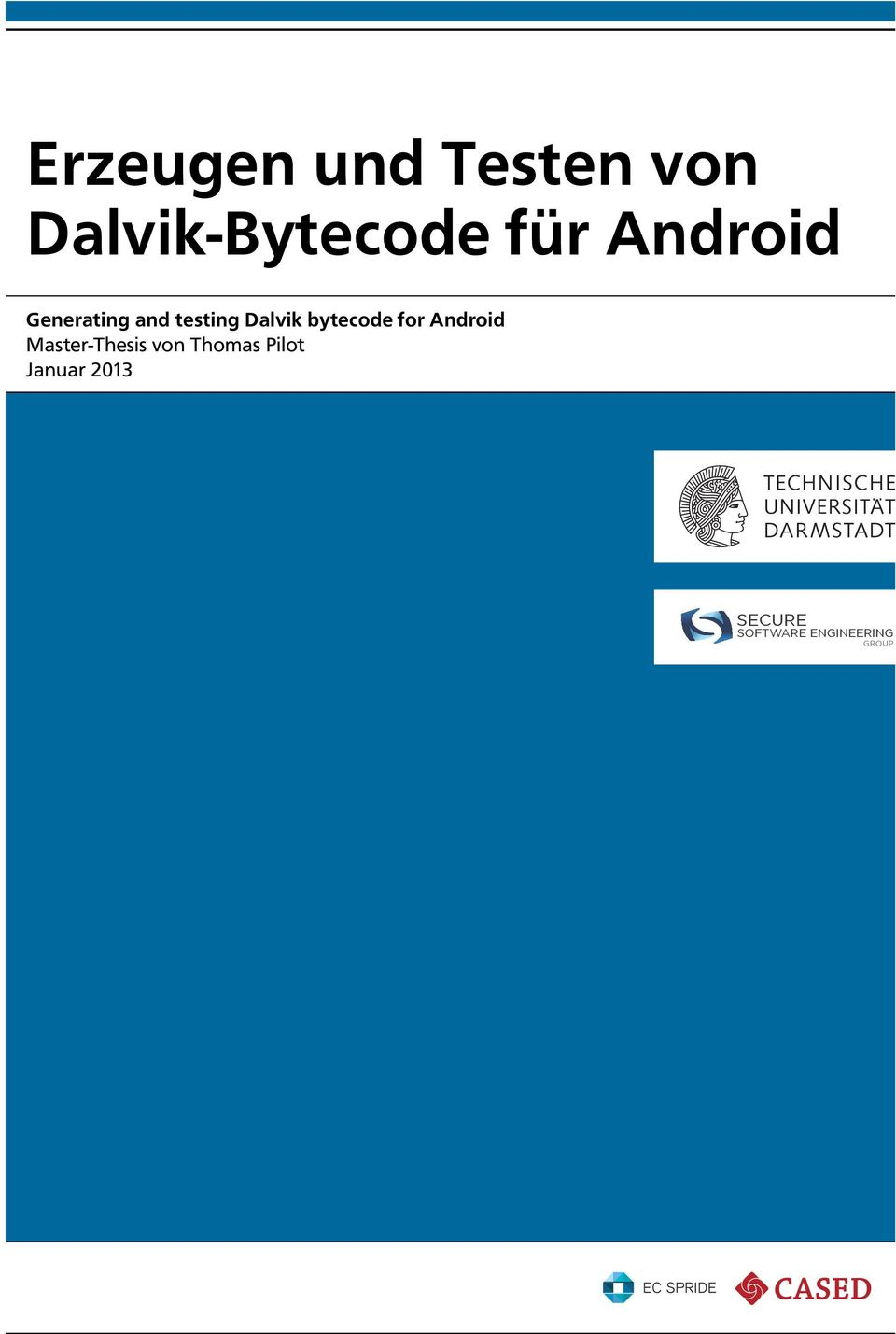 bytecode for Android Master-Thesis von