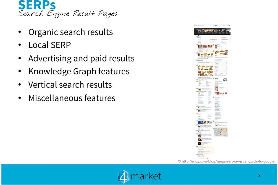 features Vertical search results Miscellaneous features