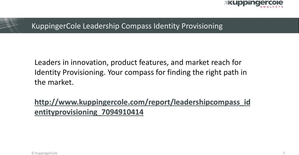 Your compass for finding the right path in the market. http://www.