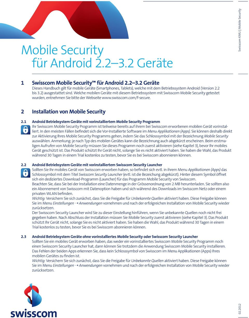 2 Installation von Mobile Security 2.
