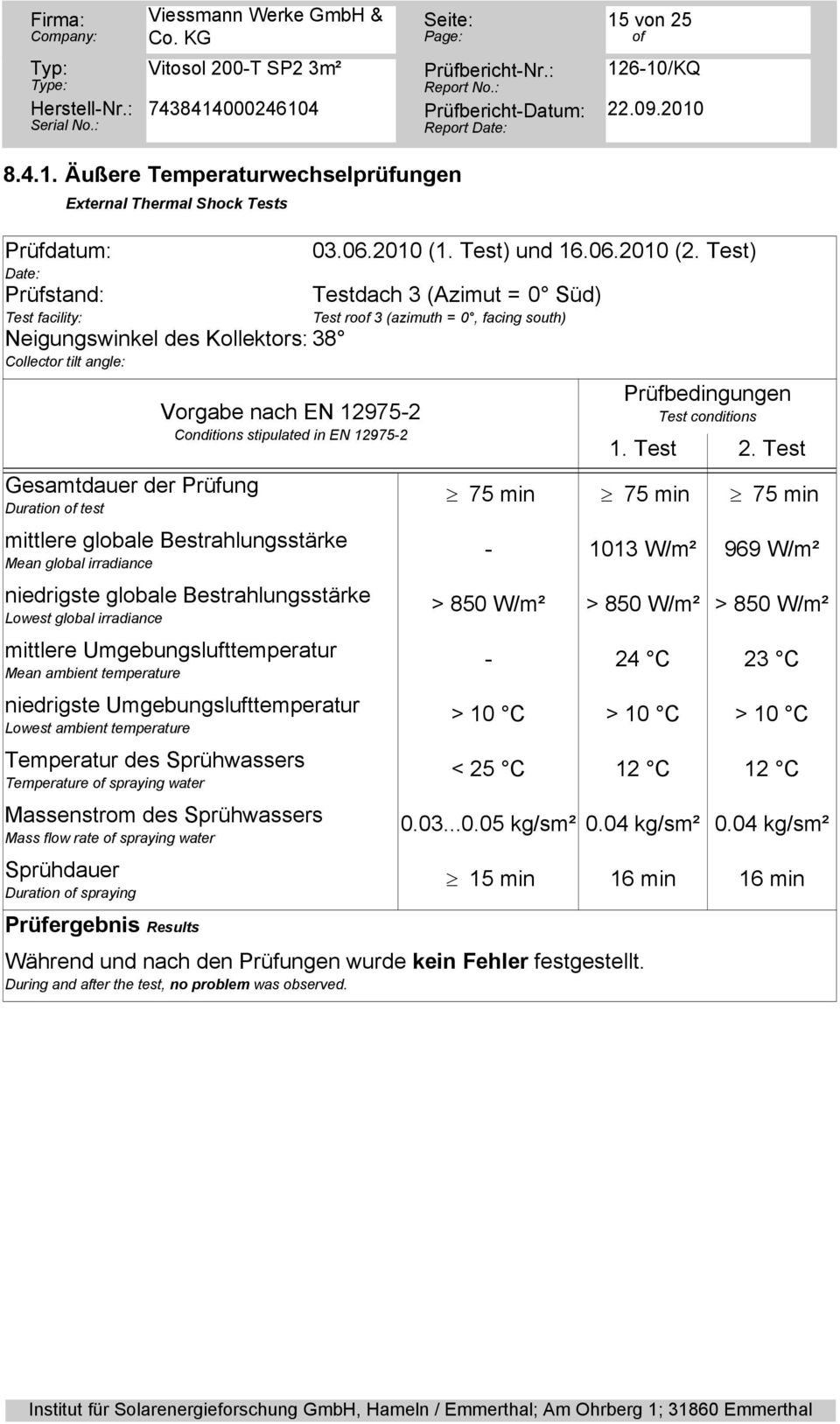mittlere Umgebungslufttemperatur Mean ambient temperature niedrigste Umgebungslufttemperatur Lowest ambient temperature Temperatur des Sprühwassers Temperature spraying water Massenstrom des