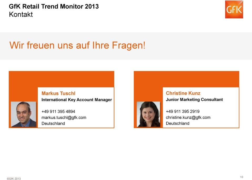 Markus Tuschl International Key Account Manager Christine Kunz