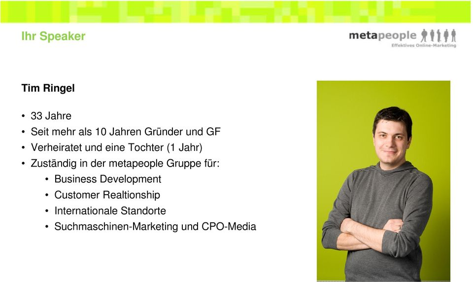 metapeople Gruppe für: Business Development Customer