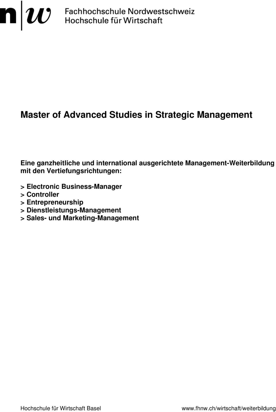 Business-Manager > Controller > Entrepreneurship > Dienstleistungs-Management > Sales-