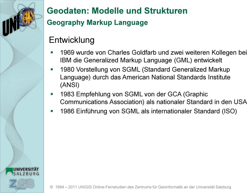 American National Standards Institute (ANSI) 1983 Empfehlung von SGML von der GCA (Graphic