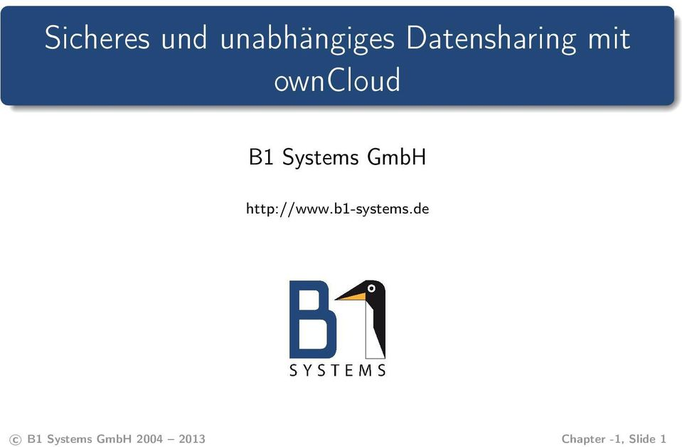 Systems GmbH http://www.b1-systems.