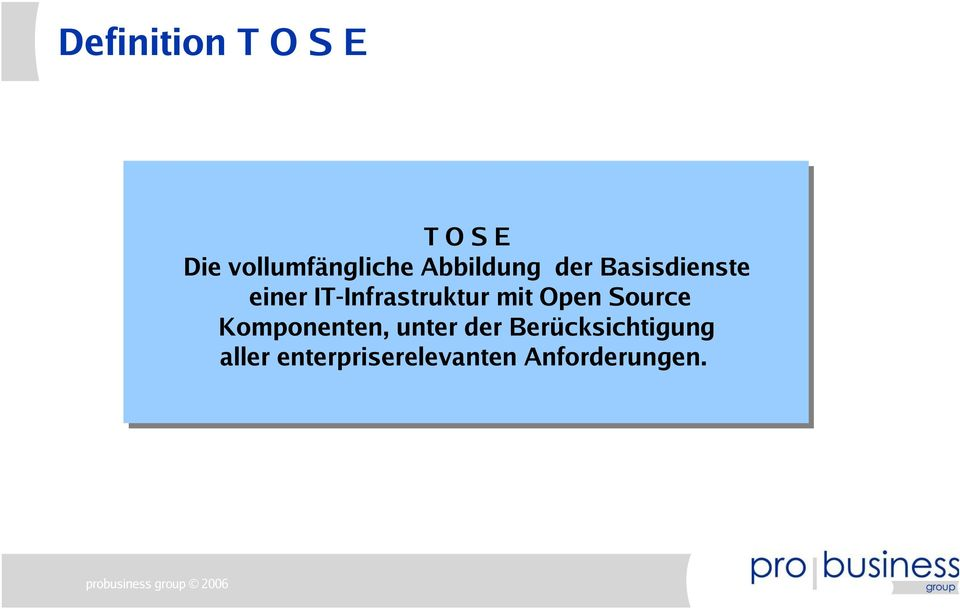 IT-Infrastruktur mit Open Source Komponenten,