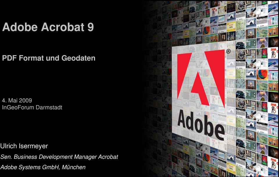 Business Development Manager Acrobat Adobe Systems