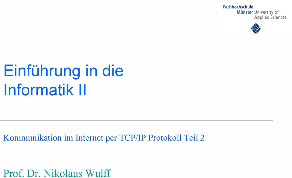 im Internet per TCP/IP