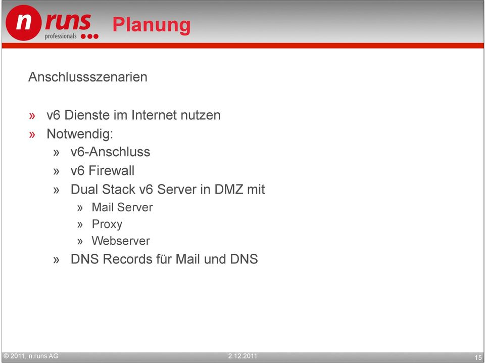 Firewall» Dual Stack v6 Server in DMZ mit» Mail