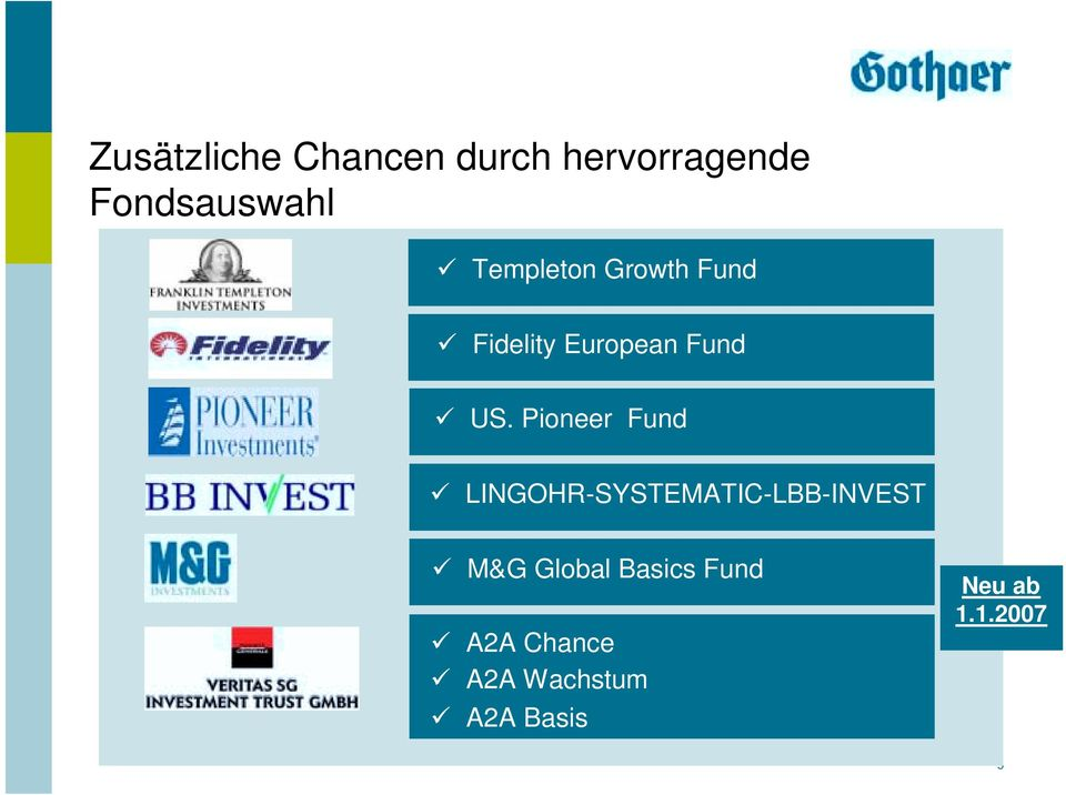 "Pioneer Fund "" LINGOHR-SYSTEMATIC-LBB-INVEST "" M&G Global"